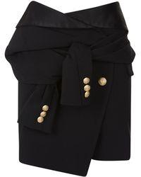 Faith Connexion - Wrap Mini Skirt - Lyst