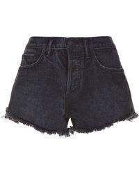 Sandrine Rose - Distressed Denim Shorts - Lyst