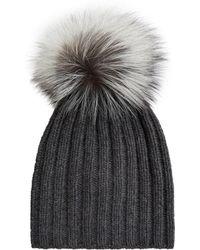 Harrods - Fur Bobble Hat - Lyst