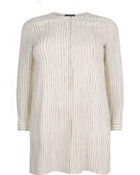 Eileen Fisher - Long-sleeved Striped Shirt - Lyst