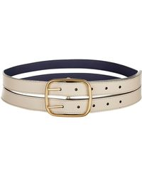 Burberry - Double Strap Leather Belt - Lyst