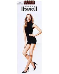 Wolford - Tina Summer Knee High Fishnet Socks - Lyst