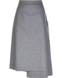 Les Copains - Asymmetric Woollen Skirt - Lyst