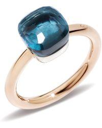 Pomellato   Nudo London Blue Topaz Petite Ring   Lyst