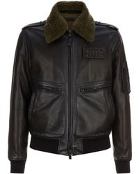 Bottega Veneta - Leather Aviator Jacket - Lyst