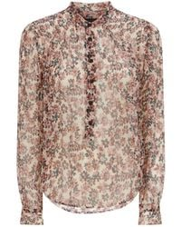 b8601398a4a0f Lyst - Rag   Bone Red Garden Floral Susan Blouse in Red