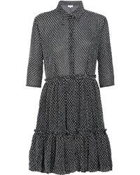 Claudie Pierlot - Textured Shirt Dress - Lyst