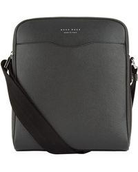 BOSS | Leather Cross-body Messenger Bag | Lyst