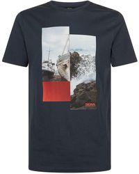 BOSS Orange - Boat Graphic T-shirt - Lyst