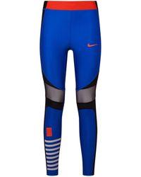 47442e71c08d5 Lyst - Nike Power Speed Cropped Running Leggings in Blue