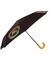Burberry - Leather Handle Crest Umbrella - Lyst