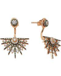 Bee Goddess - Star Light Diamond Ear Jackets - Lyst