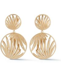 Susan Foster - Yellow Gold Forrest Palm Earrings - Lyst