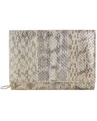 elie saab snakeskin and leather chain wallet lyst - Abat Jour Color