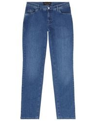 Zilli - Calf Leather Badge Jeans - Lyst