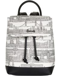 Harrods - Brompton Road Backpack, White - Lyst