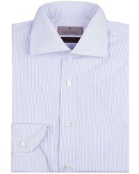 Canali - Pinstripe Cotton Shirt - Lyst