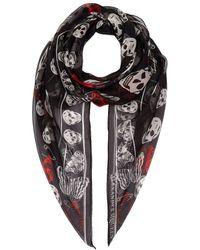 Alexander McQueen - Butterfly Skull Silk Scarf - Lyst