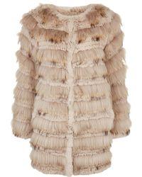Max & Moi | Lama Tiered Fur Coat | Lyst