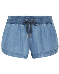 Juicy Couture - Behati Chambray Shorts - Lyst