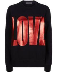 Givenchy - Love Print Sweatshirt - Lyst