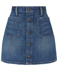 Denim & Supply Ralph Lauren - Maclaren Button Front Denim Skirt - Lyst