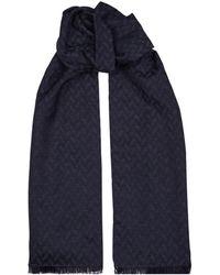 Emporio Armani - Diagonal Patternscarf - Lyst