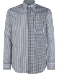 Maison Margiela - Stripe Check Panelled Shirt - Lyst