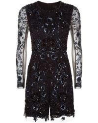 Needle & Thread - Embellished Butterfly Playsuit - Lyst
