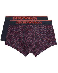 Armani - Geometric And Solid Trunks (pack Of 2) - Lyst