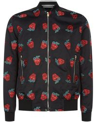 Paul Smith - Embroidered Strawberry Bomber Jacket - Lyst