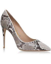 Ferragamo - Fiore Snakeskin Court Shoes 100 - Lyst