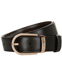 Montblanc - Reversible Rose Gold Buckle Belt - Lyst