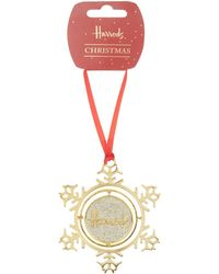 Harrods - Snowflake Gyroscope Christmas Decoration - Lyst