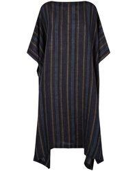 Eskandar - Stripe Linen Kaftan Dress - Lyst
