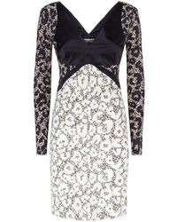 Roberto Cavalli - Leopard Print Panelled Dress - Lyst