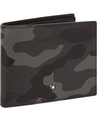 Montblanc - Bifold Leather Camouflage Wallet - Lyst