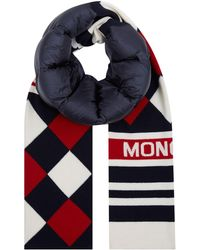 Moncler - Down Insulated Intarsia Scarf - Lyst