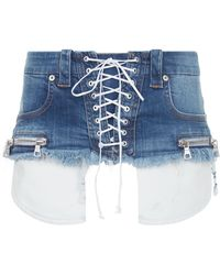 Unravel - Lace-up Denim Belt - Lyst