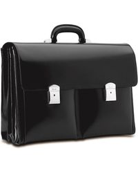 Pineider - Triple Compartment Leather Briefcase - Lyst