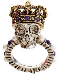 Alexander McQueen - King Skull Ring - Lyst