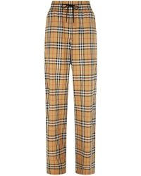 Burberry - Haymarket Check Drawstring Trousers - Lyst