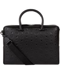 MCM - Leather Ottomar Visetos Briefcase - Lyst