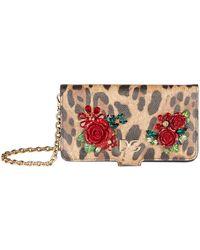 Dolce   Gabbana - Leather Embellished Iphone X xs Case - Lyst 52765eb194411