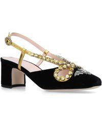 8bdbc95cccd Lyst - Gucci Zephyra Jewel Sandal in Black
