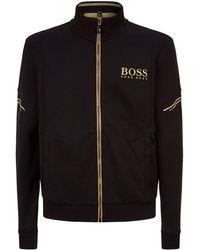 BOSS Green - Zip-up Funnel Neck Sweatshirt - Lyst