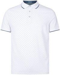 d4d5f34202bb2 Lyst - Ted Baker Veranda Regular Fit Oxford Polo Shirt in Blue for Men