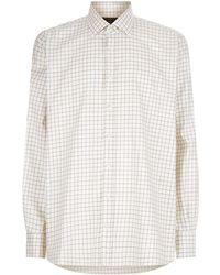 James Purdey & Sons - Tattersall Check Print Shirt, Purple, Uk 16 - Lyst