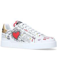 Dolce & Gabbana - Portofino Graffiti Sneakers - Lyst