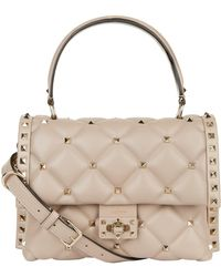 Valentino - Mini Leather Candystud Top Handle Bag - Lyst